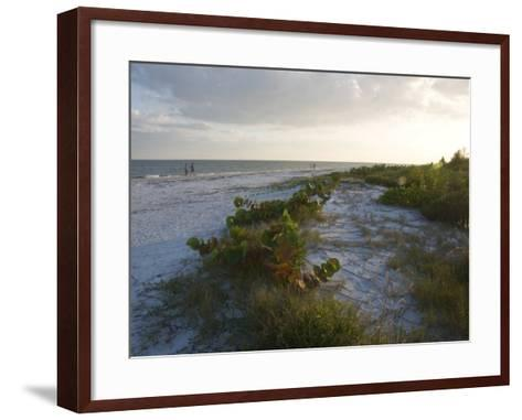 Sunset on Beach, Sanibel Island, Gulf Coast, Florida, United States of America, North America-Robert Harding-Framed Art Print