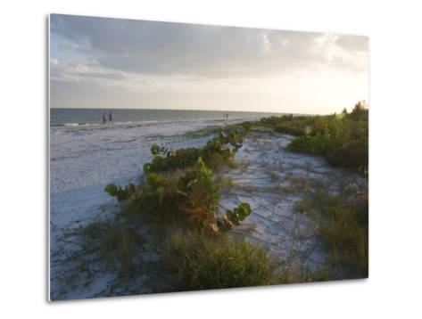 Sunset on Beach, Sanibel Island, Gulf Coast, Florida, United States of America, North America-Robert Harding-Metal Print