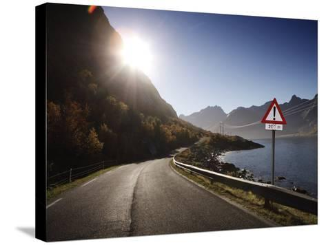 Deserted Road Lofoten Islands, Norway, Scandinavia, Europe--Stretched Canvas Print