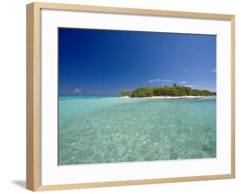 Tropical Island and Lagoon, Baa Atoll, Maldives, Indian Ocean-Sakis Papadopoulos-Framed Art Print