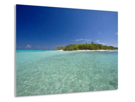 Tropical Island and Lagoon, Baa Atoll, Maldives, Indian Ocean-Sakis Papadopoulos-Metal Print