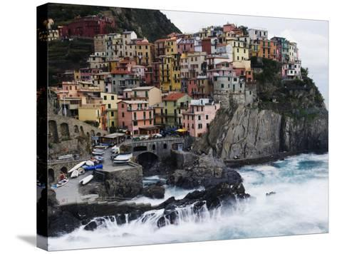 Clifftop Village of Manarola, Cinque Terre, UNESCO World Heritage Site, Liguria, Italy, Europe-Christian Kober-Stretched Canvas Print