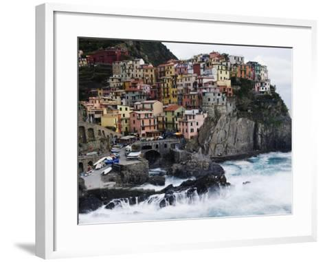 Clifftop Village of Manarola, Cinque Terre, UNESCO World Heritage Site, Liguria, Italy, Europe-Christian Kober-Framed Art Print