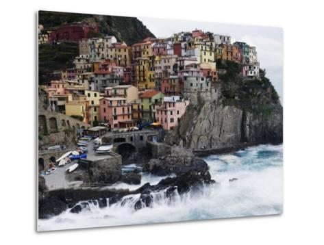 Clifftop Village of Manarola, Cinque Terre, UNESCO World Heritage Site, Liguria, Italy, Europe-Christian Kober-Metal Print
