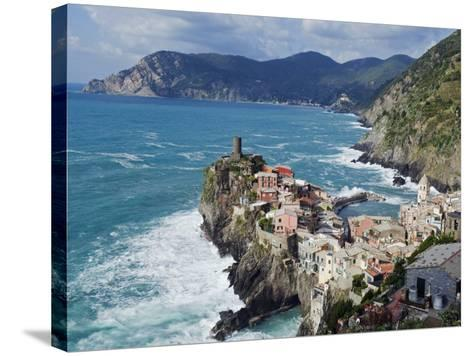 Clifftop Village of Vernazza, Cinque Terre, UNESCO World Heritage Site, Liguria, Italy, Europe-Christian Kober-Stretched Canvas Print