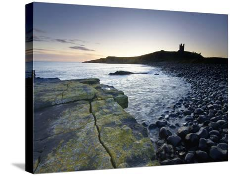Across Rumble Churn at Dawn Towards Ruins of Dunstanburgh Castle, Northumberland, England-Lee Frost-Stretched Canvas Print