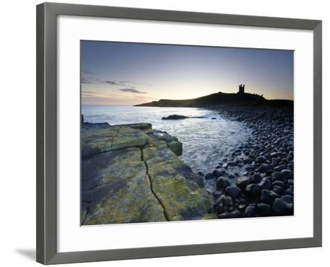 Across Rumble Churn at Dawn Towards Ruins of Dunstanburgh Castle, Northumberland, England-Lee Frost-Framed Art Print