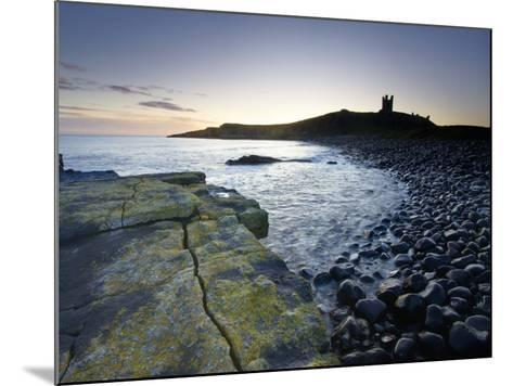 Across Rumble Churn at Dawn Towards Ruins of Dunstanburgh Castle, Northumberland, England-Lee Frost-Mounted Photographic Print