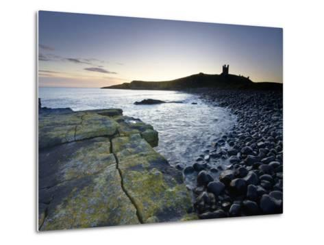 Across Rumble Churn at Dawn Towards Ruins of Dunstanburgh Castle, Northumberland, England-Lee Frost-Metal Print