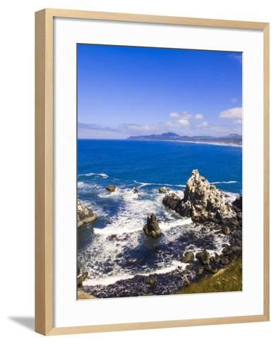 Coast Near Yaquina Head Lighthouse, Oregon, United States of America, North America-Michael DeFreitas-Framed Art Print