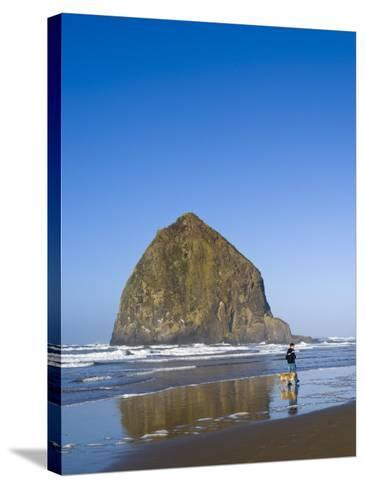 Haystack Rock, Cannon Beach, Oregon, United States of America, North America-Michael DeFreitas-Stretched Canvas Print