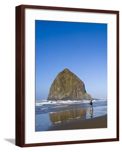 Haystack Rock, Cannon Beach, Oregon, United States of America, North America-Michael DeFreitas-Framed Art Print