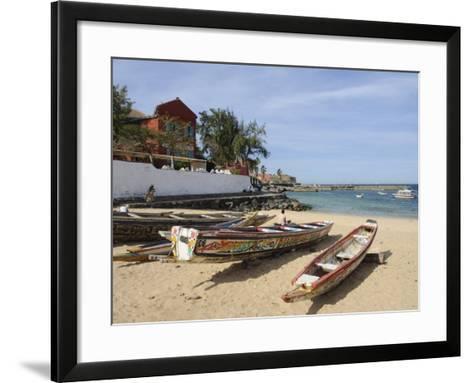 Pirogues (Fishing Boats) on Beach, Goree Island, Near Dakar, Senegal, West Africa, Africa-Robert Harding-Framed Art Print
