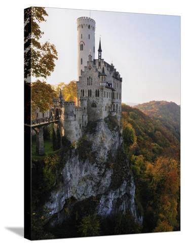 Castle Liechtenstein, Schwaebische Alb, Baden-Wurttemberg, Germany, Europe-Jochen Schlenker-Stretched Canvas Print