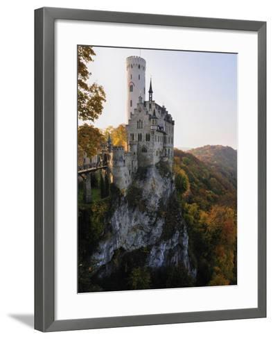 Castle Liechtenstein, Schwaebische Alb, Baden-Wurttemberg, Germany, Europe-Jochen Schlenker-Framed Art Print