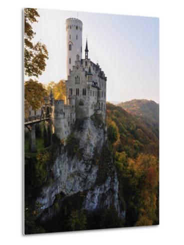 Castle Liechtenstein, Schwaebische Alb, Baden-Wurttemberg, Germany, Europe-Jochen Schlenker-Metal Print