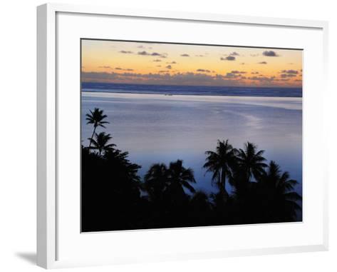 Mahuti Bay, Huahine, French Polynesia, South Pacific Ocean, Pacific-Jochen Schlenker-Framed Art Print