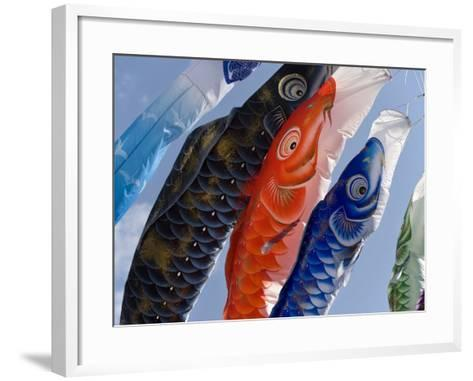 Koinobori, or Carp Streamers, Seen Throughout Japan around Children's Day, May 5Th, Japan--Framed Art Print