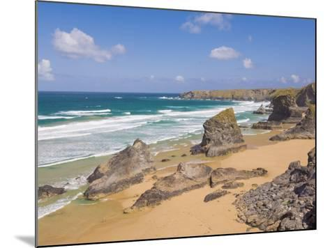 Rock Stacks, Beach and Rugged Coastline at Bedruthan Steps, North Cornwall, England-Neale Clark-Mounted Photographic Print
