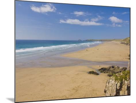 Long Beach and Coastline, Perranporth, North Cornwall, England, United Kingdom, Europe-Neale Clark-Mounted Photographic Print