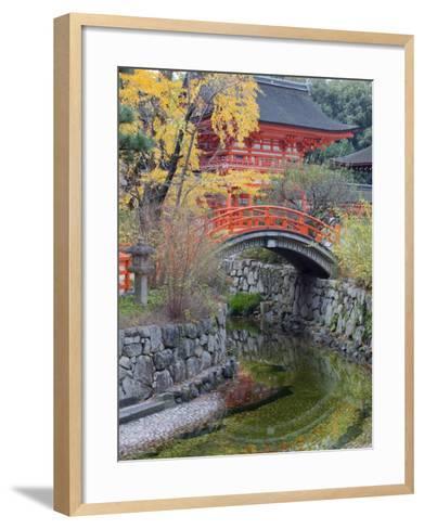 Arched Bridge and Pavilion, Shimogamo Shrine, Tadasu No Mori, Kyoto, Japan, Asia-Christian Kober-Framed Art Print