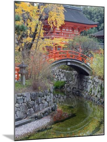 Arched Bridge and Pavilion, Shimogamo Shrine, Tadasu No Mori, Kyoto, Japan, Asia-Christian Kober-Mounted Photographic Print
