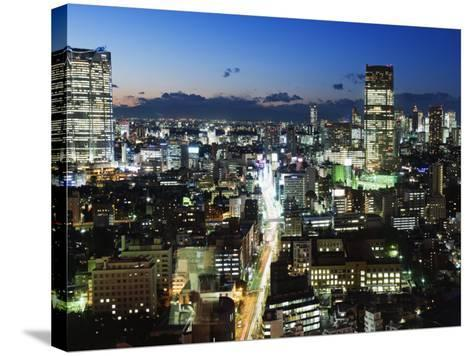 City Skyline View Looking Towards Roppongi from Tokyo Tower, Tokyo, Japan, Asia-Christian Kober-Stretched Canvas Print