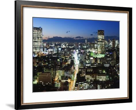 City Skyline View Looking Towards Roppongi from Tokyo Tower, Tokyo, Japan, Asia-Christian Kober-Framed Art Print