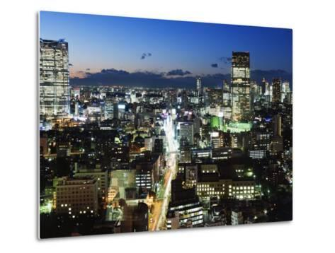City Skyline View Looking Towards Roppongi from Tokyo Tower, Tokyo, Japan, Asia-Christian Kober-Metal Print