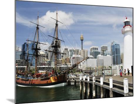 Replica of Captain Cook's Endeavour, National Maritime Museum, Darling Harbour, Sydney, Australia-Jochen Schlenker-Mounted Photographic Print