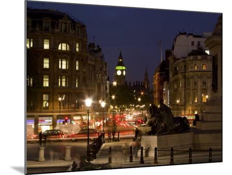 Big Ben and Whitehall from Trafalgar Square, London, England, United Kingdom, Europe-Charles Bowman-Mounted Photographic Print