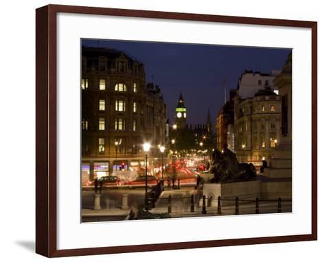 Big Ben and Whitehall from Trafalgar Square, London, England, United Kingdom, Europe-Charles Bowman-Framed Art Print