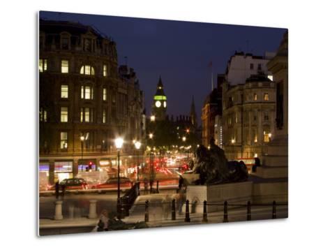 Big Ben and Whitehall from Trafalgar Square, London, England, United Kingdom, Europe-Charles Bowman-Metal Print