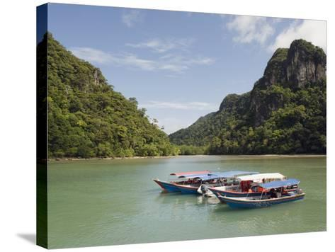 Colourful Boats, Langkawi Island, Kedah State, Malaysia, Southeast Asia, Asia-Christian Kober-Stretched Canvas Print