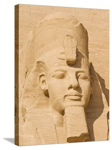 Giant Statue of the Great Pharaoh Rameses Ii, Temple Rameses Ii at Abu Simbel, Egypt-Neale Clark-Stretched Canvas Print