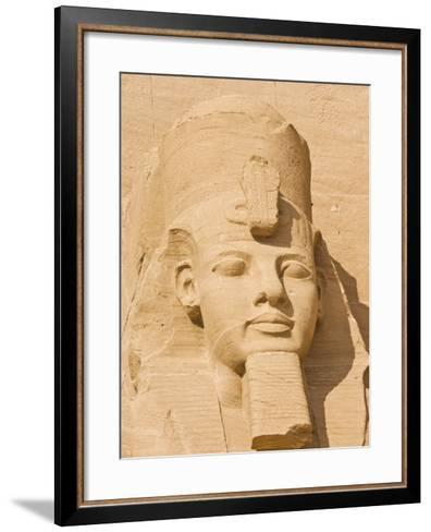 Giant Statue of the Great Pharaoh Rameses Ii, Temple Rameses Ii at Abu Simbel, Egypt-Neale Clark-Framed Art Print