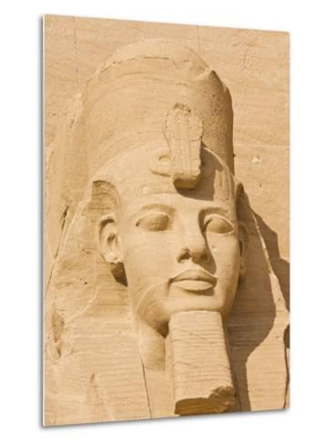 Giant Statue of the Great Pharaoh Rameses Ii, Temple Rameses Ii at Abu Simbel, Egypt-Neale Clark-Metal Print