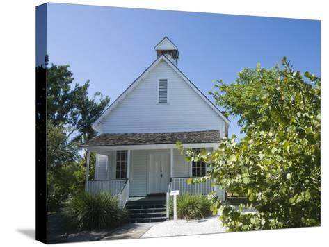 Old Houses in Historic Village Museum, Sanibel Island, Gulf Coast, Florida-Robert Harding-Stretched Canvas Print