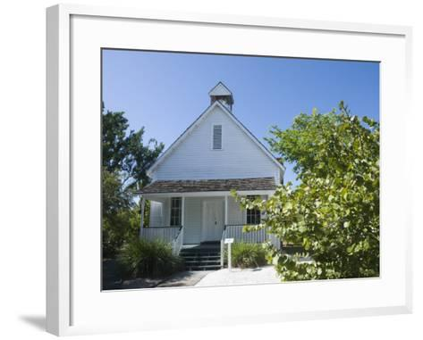 Old Houses in Historic Village Museum, Sanibel Island, Gulf Coast, Florida-Robert Harding-Framed Art Print