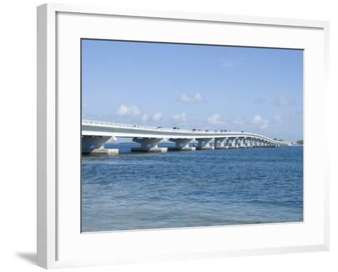 Bridge Connecting Sanibel Island to Mainland, Gulf Coast, Florida, United States of America, North -Robert Harding-Framed Art Print