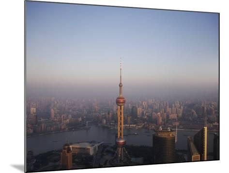 Pearl Tower at Dawn, Shanghai, China, Asia--Mounted Photographic Print