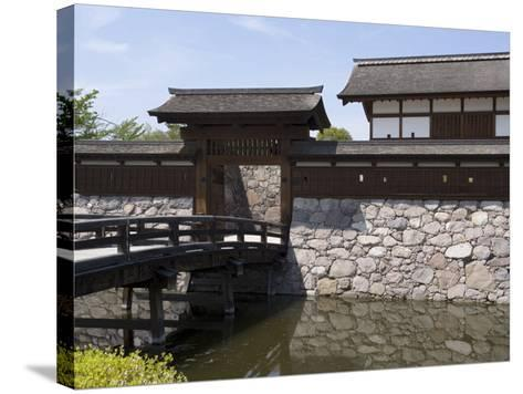 Main Gate with Bridge over Moat at Matsushiro Castle in Nagano Prefecture, Japan--Stretched Canvas Print