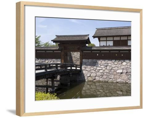 Main Gate with Bridge over Moat at Matsushiro Castle in Nagano Prefecture, Japan--Framed Art Print