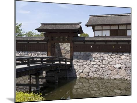 Main Gate with Bridge over Moat at Matsushiro Castle in Nagano Prefecture, Japan--Mounted Photographic Print