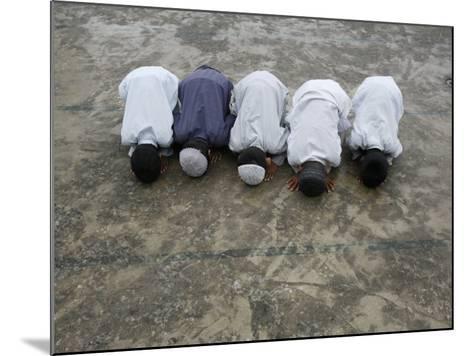 Muslim Boys Praying, Kathmandu, Nepal, Asia-Godong-Mounted Photographic Print