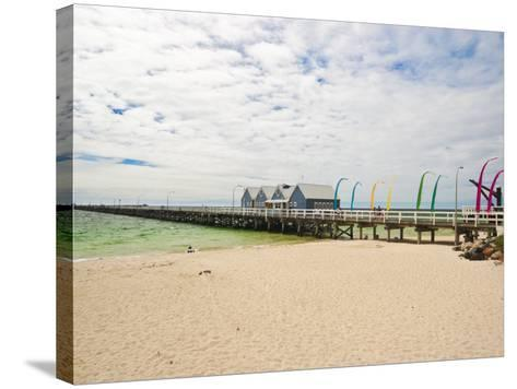 Busselton Jetty Built for the Logging Trade, Now a Tourist Attraction, Busselton, Western Australia-Robert Francis-Stretched Canvas Print