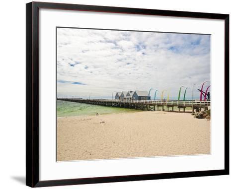 Busselton Jetty Built for the Logging Trade, Now a Tourist Attraction, Busselton, Western Australia-Robert Francis-Framed Art Print