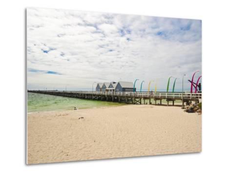 Busselton Jetty Built for the Logging Trade, Now a Tourist Attraction, Busselton, Western Australia-Robert Francis-Metal Print