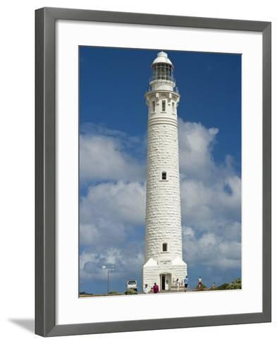 Lighthouse Dating from 1895 at Cape Leeuwin, Augusta-Margaret River Shire, Western Australia-Robert Francis-Framed Art Print