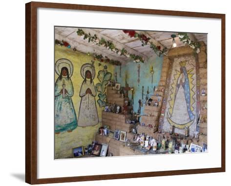Adobe Mission Interior, De Grazia Gallery in Sun, Tucson, Arizona-Richard Cummins-Framed Art Print